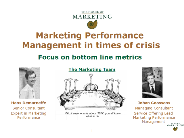 Marketing Performance - Challenges and Metrics in 2009