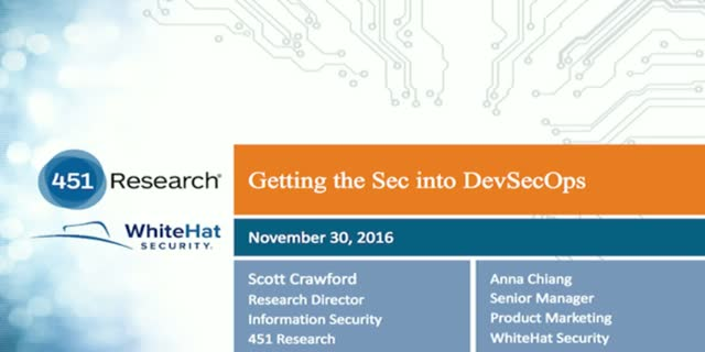 Getting the Sec into DevSecOps