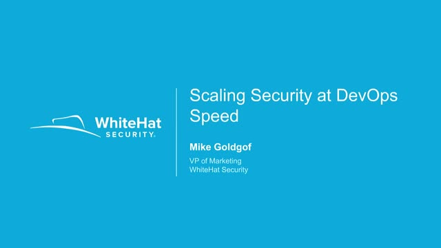 Scaling Security at DevOps Speed