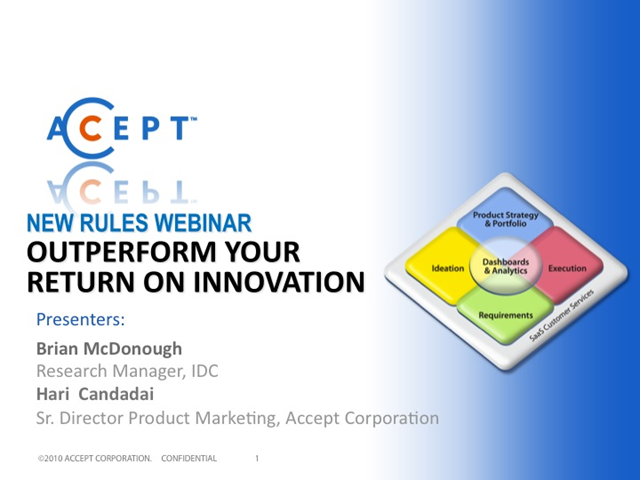 Outperform Your Return on Innovation
