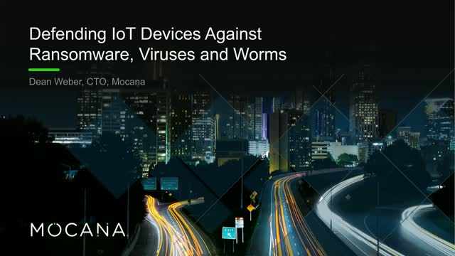 Defending IoT Devices Against Ransomware, Viruses and Worms
