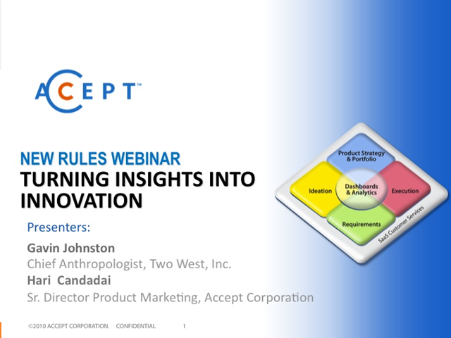 Turning Insights into Innovation