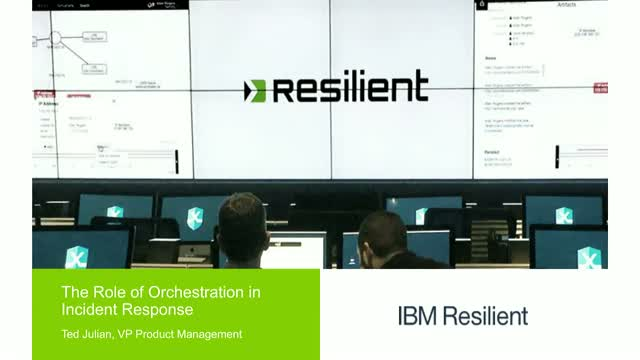 The Role of Orchestration in Incident Response