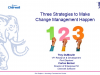 The Three Strategies to Mak Change Management Happen