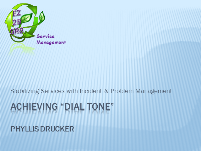 Stabilizing Services with Incident & Problem Management