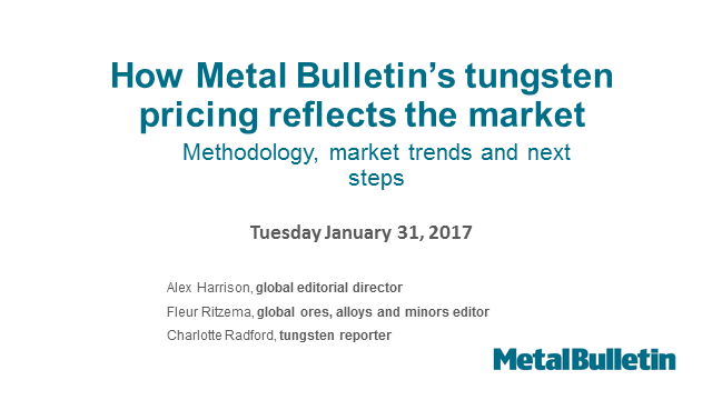 How Metal Bulletin's tungsten pricing reflects the market