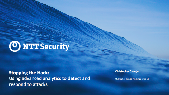 Stopping the Hack: Using Advanced Analytics to Detect and Respond to Attacks