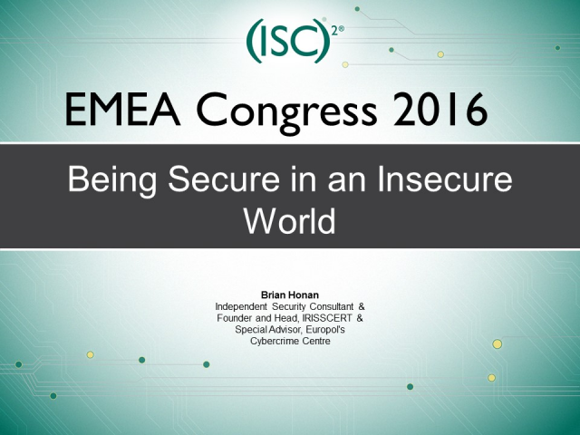 Being Secure in an Insecure World