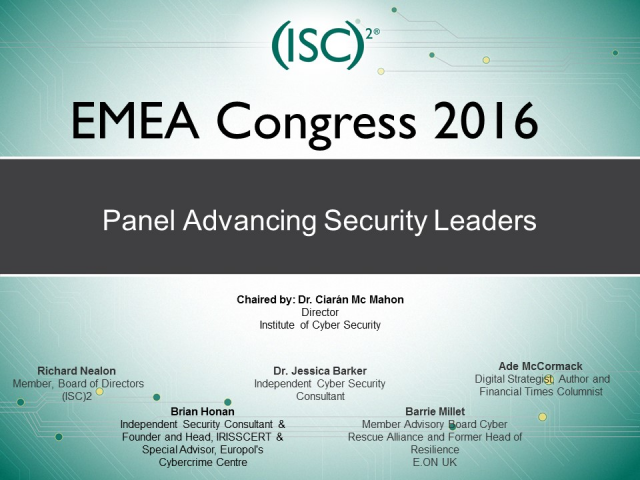 Panel Advancing Security Leaders