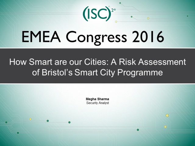 How Smart are our Cities: A Risk Assessment of Bristol's Smart City Programme