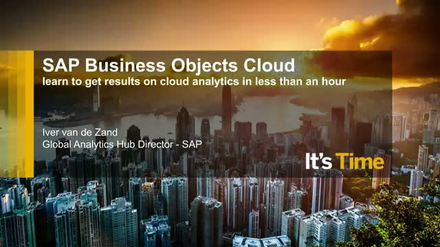 How to apply real-time Cloud analytics in just an hour