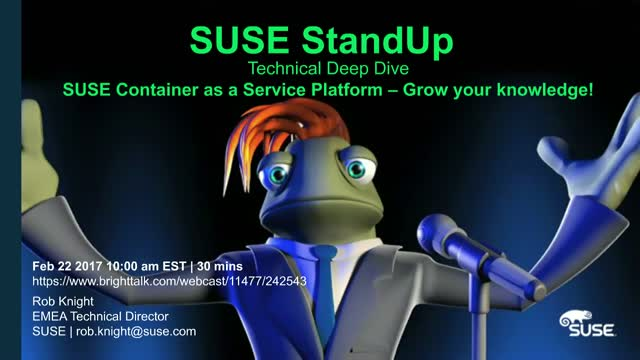 SUSE Container as a Service Platform - Grow your Technical knowledge