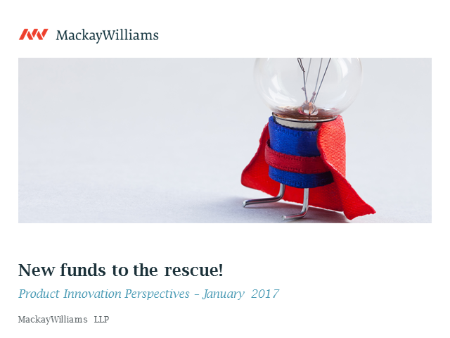 New funds to the rescue!