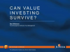 Can Value investing survive?