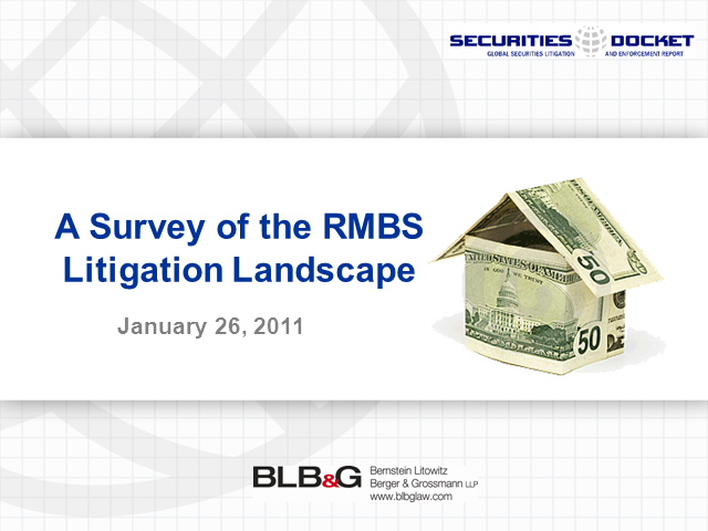 A Survey of the RMBS Litigation Landscape