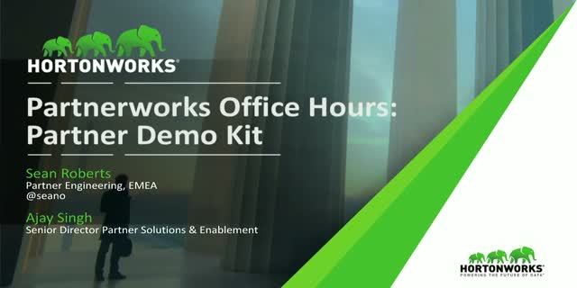 Hortonworks Partner Demo Kit