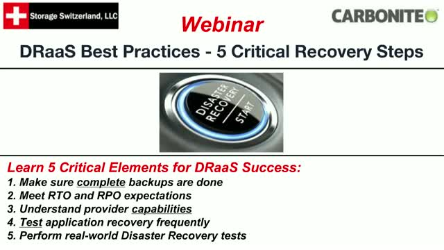 DRaaS Best Practices - 5 Critical Recovery Steps