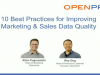 10 Best Practices to Improve Marketing & Sales Data Quality