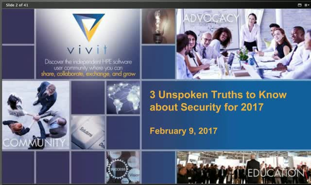 3 Unspoken Truths to Know about Security for 2017