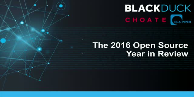 The 2016 Open Source Year in Review