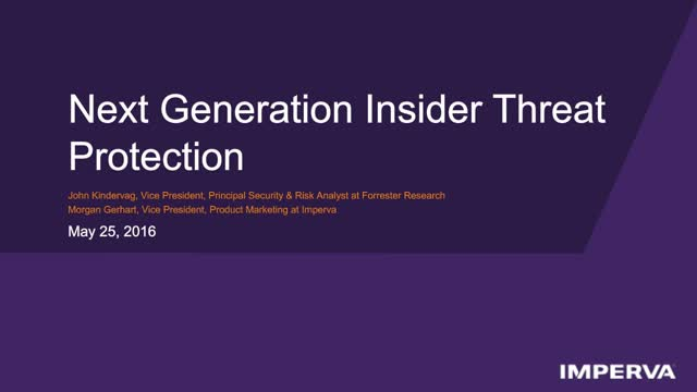 Next-Generation Insider Threat Protection