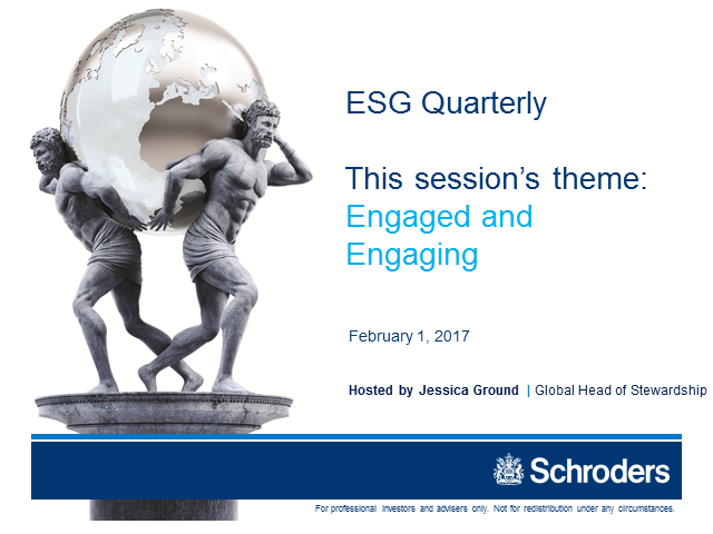 ESG Quarterly: Engaged and Engaging