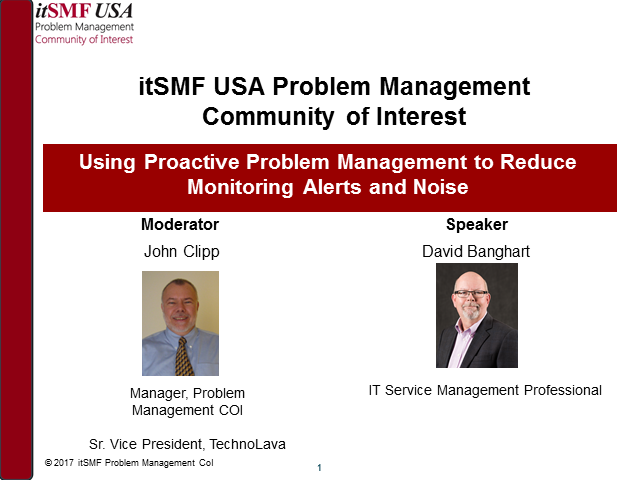 Using Proactive Problem Management to Reduce Monitoring Alerts and Noise