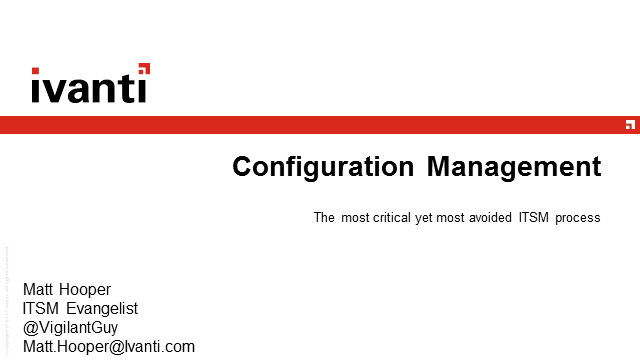 What, Why & How of CMDB – Practical guidance on managing config & assets