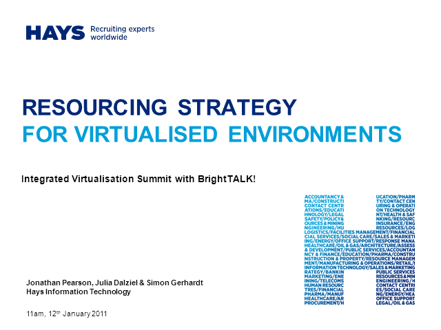 Resourcing Strategy for Virtualized Environments