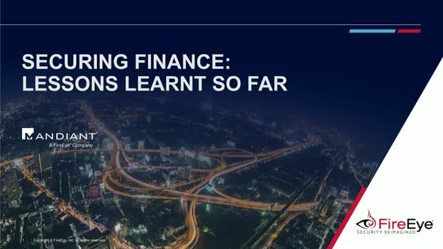 Securing Finance: Lessons Learnt So Far