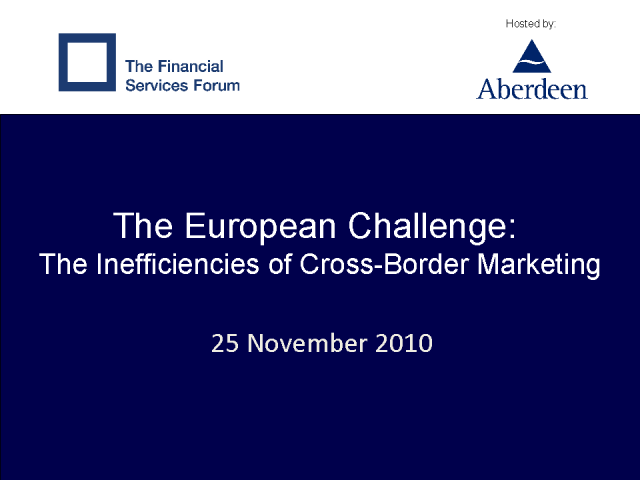 European Challenge: The Inefficiencies of Cross-Border Marketing