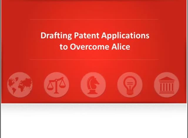 Drafting patent applications to overcome Alice
