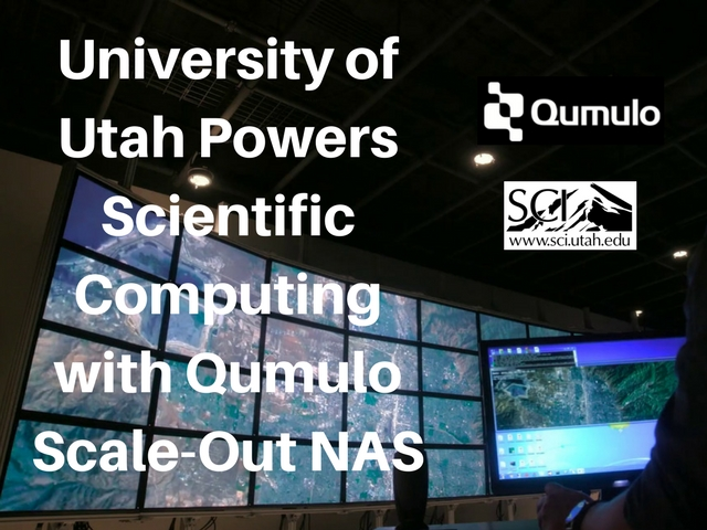 University of Utah Powers Scientific Computing with Qumulo Scale-Out NAS