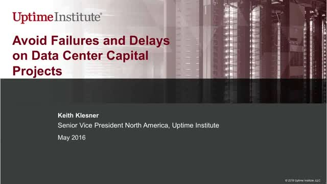 Avoid failures and delays on data center capital projects