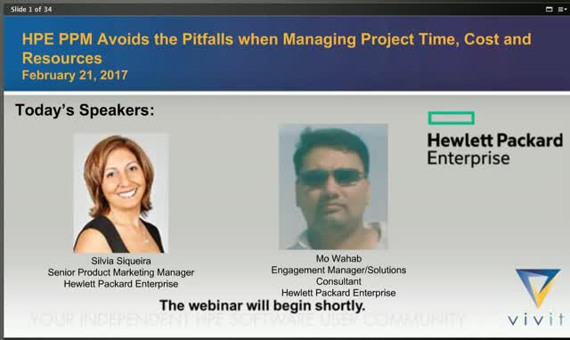 HPE PPM Avoids the Pitfalls when Managing Project Time, Cost and Resources