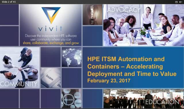 HPE ITSM Automation and Containers – Accelerating Deployment and Time to Value