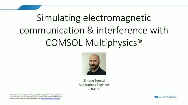 Simulating Electromagnetic Communication & Interference with COMSOL Multiphysics