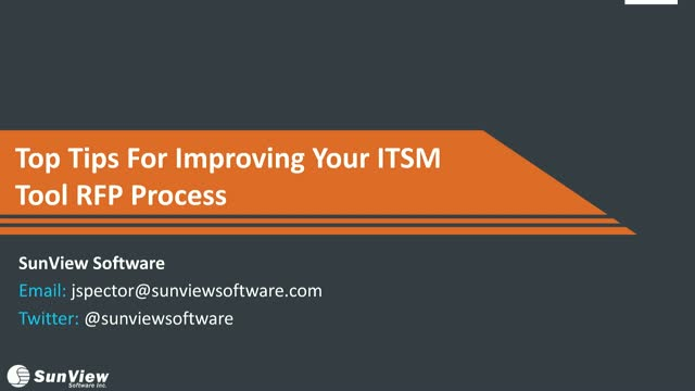Top Tips on Improving Your ITSM Tool RFP Process