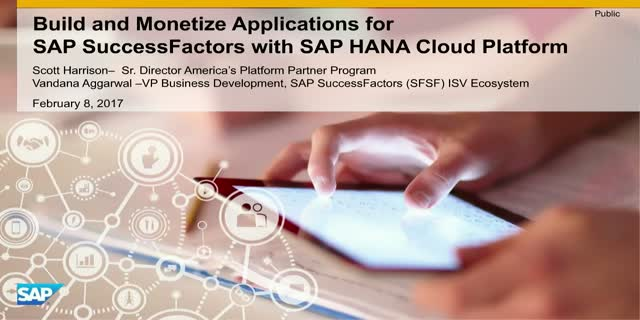 Build & Sell Innovative Extensions for SAP SuccessFactors with SAP HANA Cloud