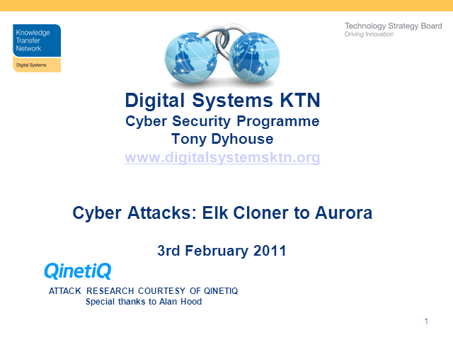 Cyber Threat: Elk Cloner to Aurora