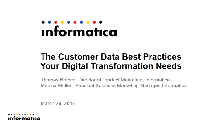 The Customer Data Best Practices Your Digital Transformation Needs