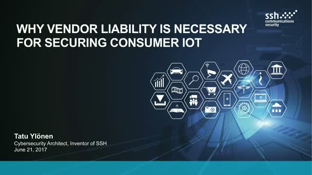 Why Vendor Liability is Necessary to Secure Consumer IoT