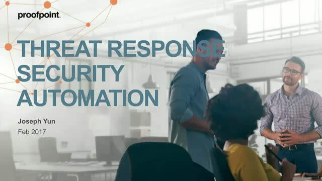 Threat Actors Are Using Automation..Are You Automating Threat Response?