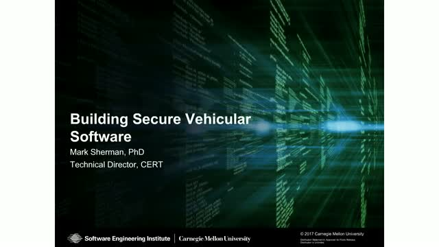 Building Secure Vehicular Software