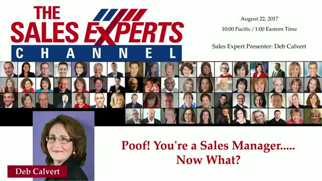 Poof! You're a Sales Manager..... Now What?