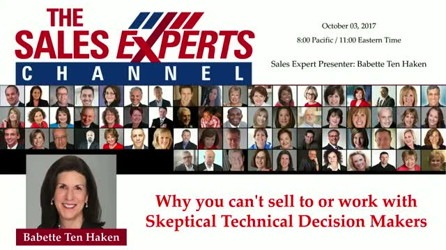 Why you can't sell to or work with Skeptical Technical Decision Makers