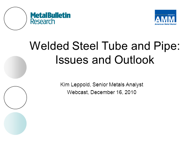 Welded Linepipe Outlook for 2011