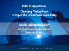 Deriving Value from Corporate Social Responsibility