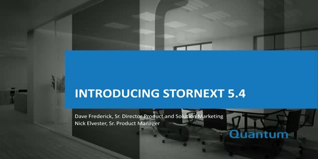 A Deep Dive into StorNext 5.4 (APAC)