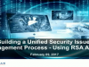 Building a Unified Security Issues Management Process - Using RSA Archer